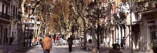 Rambla del Poble Nou en Barcelona