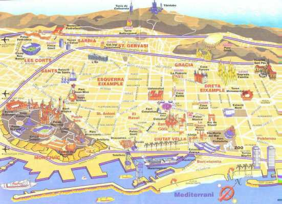 Mapa_Barcelona_Monumentos
