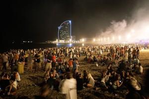 Noche de San Juan Barcelona playa